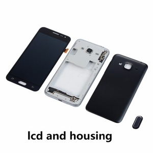 Image 2 - For Samsung J3 2016 J320 J320FN LCD Display Touch Screen Digitizer+Housing Middle Frame Cover+Battery Back Cover