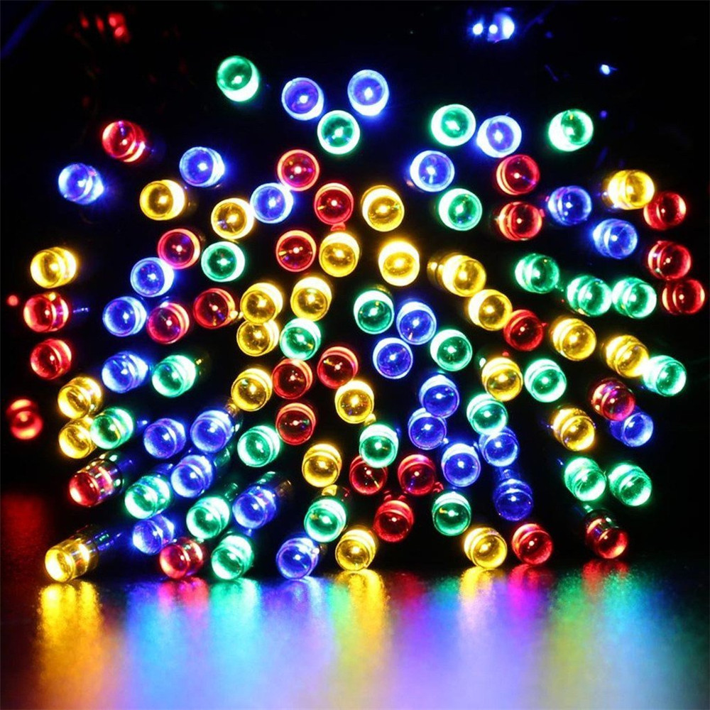50M Waterproof Solar powered Led string light Wireless Outdoor decoration for Christmas Tree,Party,Street,Roof 50m waterproof solar powered led string light wireless outdoor decoration for christmas tree party street roof