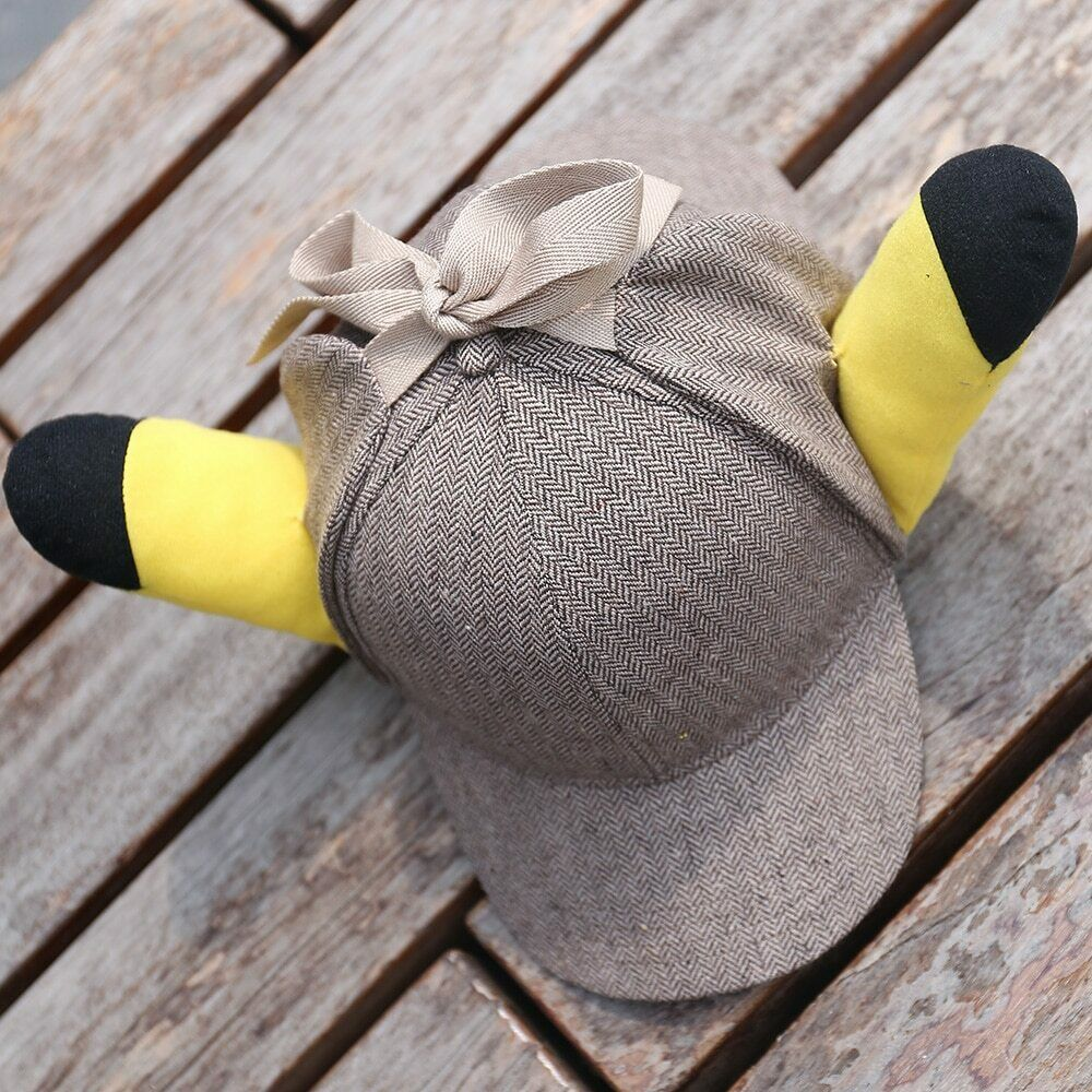 Detective Pikachu Movie Role Play Hat with Ears cosplay Gift