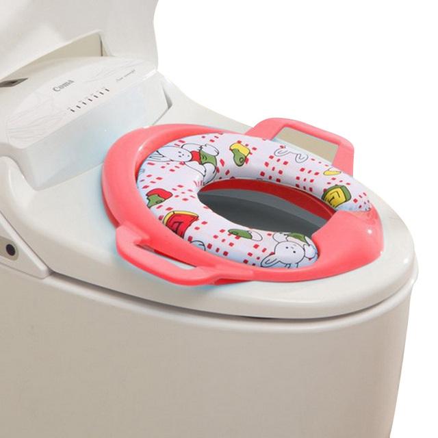 Crianças anel penico portátil removível Com duas alças Esponja almofada Macia e Confortável projeto Leak-proof de cores Aleatórias