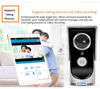 Wireless WIFI Video Door Phone Doorbell Intercom System Home Security Night Vision Waterproof Camera With Rain