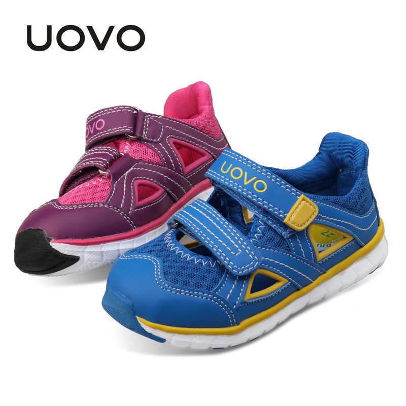 186a6d7c2 UOVO 2019 детская обувь летние сандалии обувь для мальчиков и девочек  брендовые дышащие кроссовки для детей