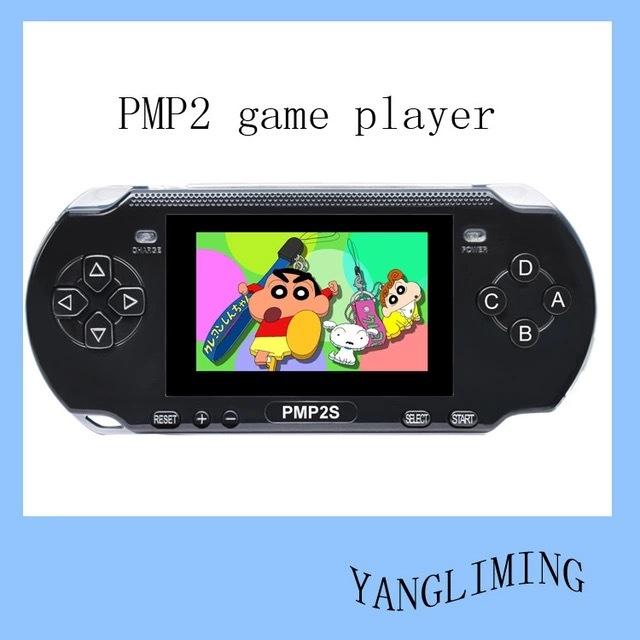 """PMP 2 s de Vídeo de 64 Bits Consola de Juegos con 400 Juegos, 3 """"16:9 pantalla TFT, MP3, MP4."""