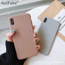 Ultra thin Solid Color Cases For Xiaomi Mi A3 A2 A1 Lite 5X 6X 8 Lite 9 SE C99E 9T Mi Mix 2S Max 3 Pro Soft TPU Case Phone Cover(China)