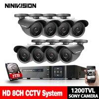 HDMI 1080P 3G wireless security camera system kits CCTV 8CH 1080P DVR System Outdoor 1.0MP Sony 1200TVL Cameras HD CCTV DVR KIT