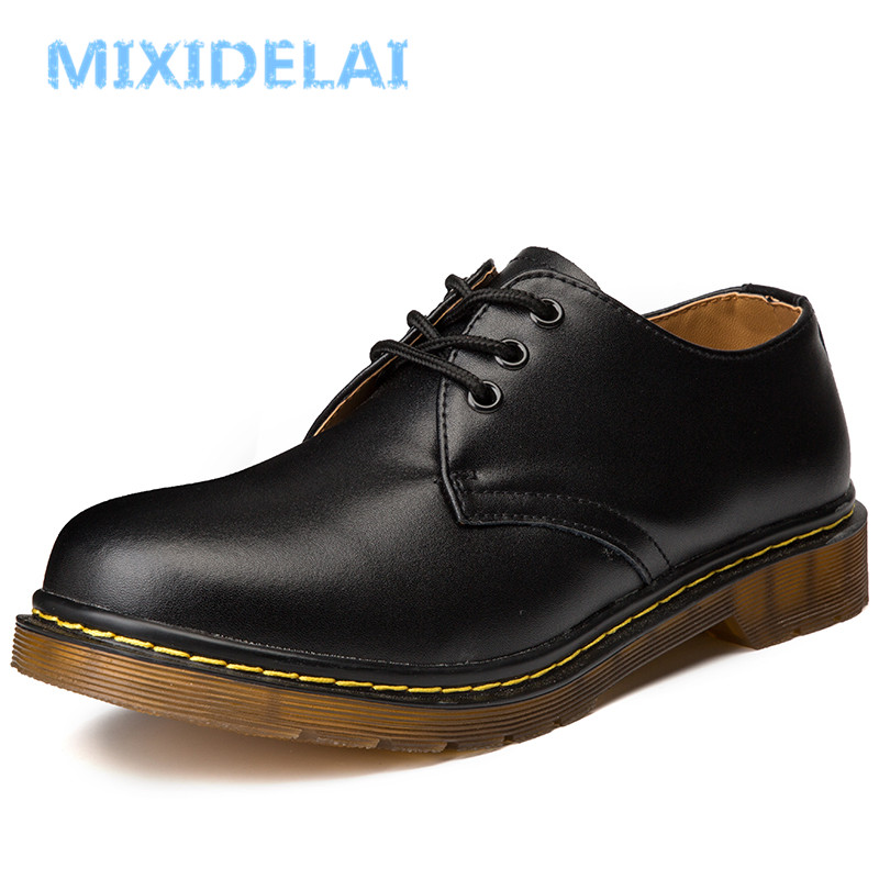MIXIDELAI New Big Size Brand Genuine Leather Men Shoes Spring Oxford Shoes Fashion Casual Designer M
