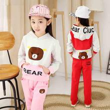 Hooded Unisex Clothing Sets For Children Sweater Printing Pattern Vetement Fille Long Sleeve Toddler Boy Clothes Two-piece Suit