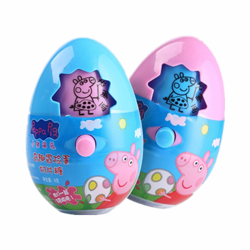 Peppa Pig George Adventure Egg Model Doll Action Figure With Milk Candy Birthday Gift Girl Children Toy 4pcs set peppa pig george guinea pig family pack dad mom action figure toys boy girl gift