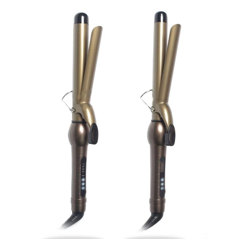 100–240 V profesionalus plaukų suktukas, 40 cm ilgio, nanotitano, keramikiniai, plaukų garbanojimo lygintuvai, 5 dydžio statinės LCD arba LED