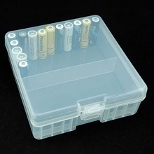 1 pièces Portable support de batterie organisateur pour 100 pièces AA Batteries 14500 batterie support du couvercle de boitier boîte de rangement en plastique Transparent