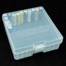 1pcsポータブルバッテリ用100本の単三電池14500バッテリーケースカバーホルダー収納ボックスプラスチック透明