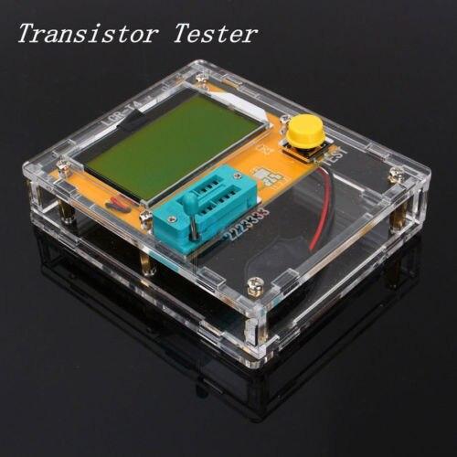 Poche 12864 Transistor Testeur Capacité ESR Diode Triode Triac MOS Compteur