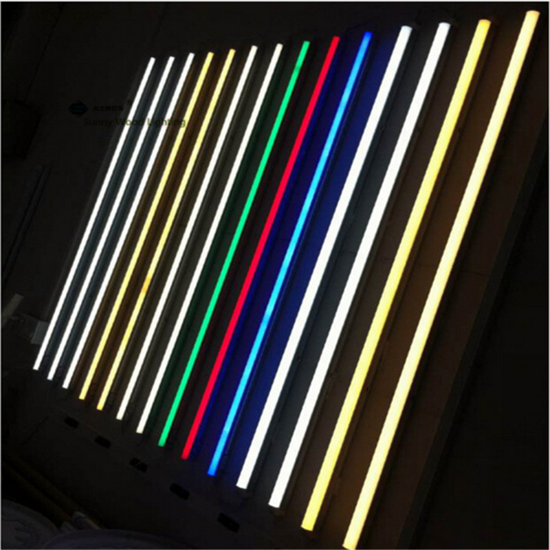 Free shipping 10pcs/carton 2835 T5 integrated led color tube ,0.6m ,0.9m,1.2m led Red ,Green ,Blue,purple tube for fresh food free shipping 1800mm home lighting 6ft t5 integrated led tube lights smd2835 28led pcs 30w 100pcs lot