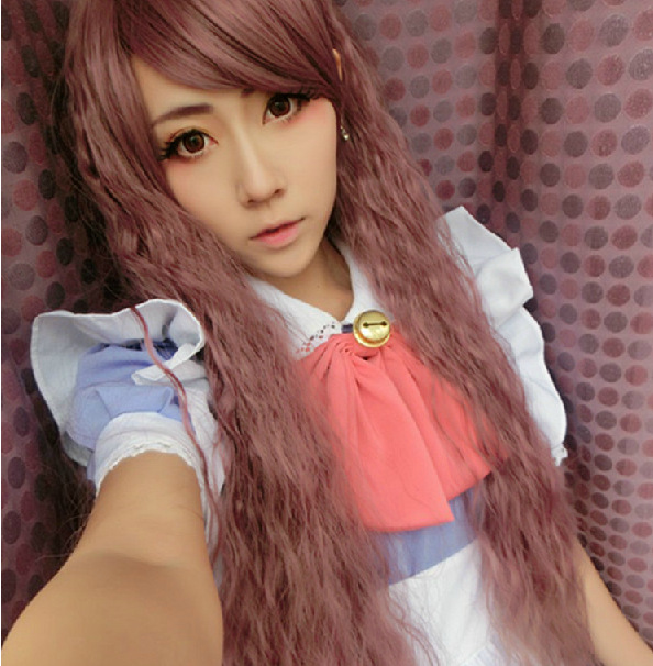 Top quality LOLITA hair jewelry 300g 75cm synthetic brown hair accessories for cosplay wigs top quality 2014 charming medium hairstyle mix color capless synthetic hair wigs