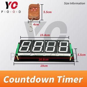 Image 5 - אלחוטי ספירה לאחור טיימר חדר בריחה משחק אבזרי ארבע תצוגה דיגיטלית משתמשים יכול להגדיר זמן YOPOOD אמיתי חיים Takagism משחק ספק