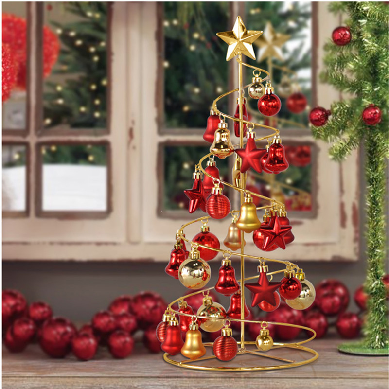 2015 New Year Mini Iron Spiral Christmas Trees Christmas ...