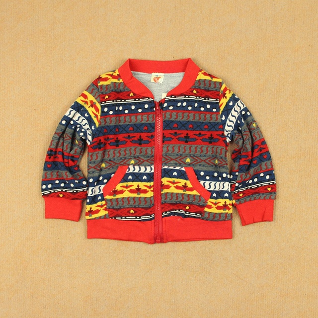 National trend double layer outerwear baby child male female child spring long-sleeve stripe zipper-up sweater