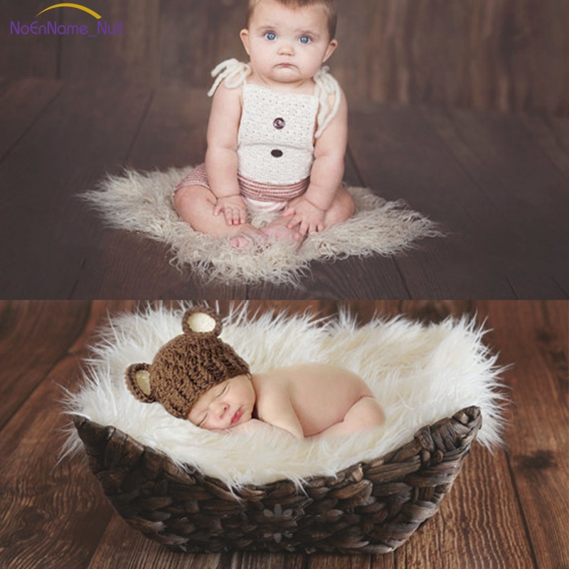 Fashion Design Photography Newborn Photographic Backdrops Newborn Props Blanket Basket Stuffer APR16