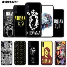 WEBBEDEPP Nirvana Kurt Cobain мягкий чехол для телефона для samsung A50s A40s A30s A20s A10s A60 A70 M10 M20 M30 M40 чехол s