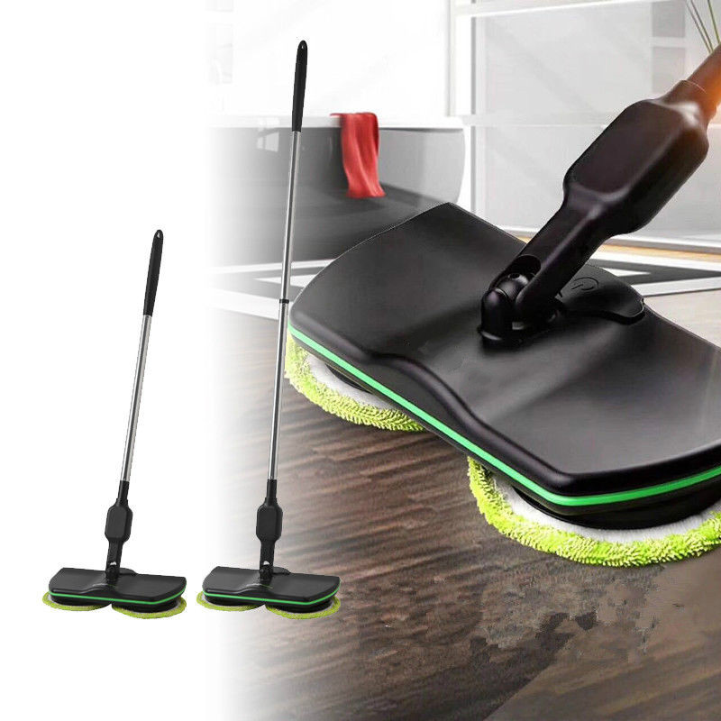 Balai électrique en microfibre 360 vadrouille rotative Spin Spray commutateur de pied vadrouille nettoyage de sol vadrouille seau facile balai à poussière