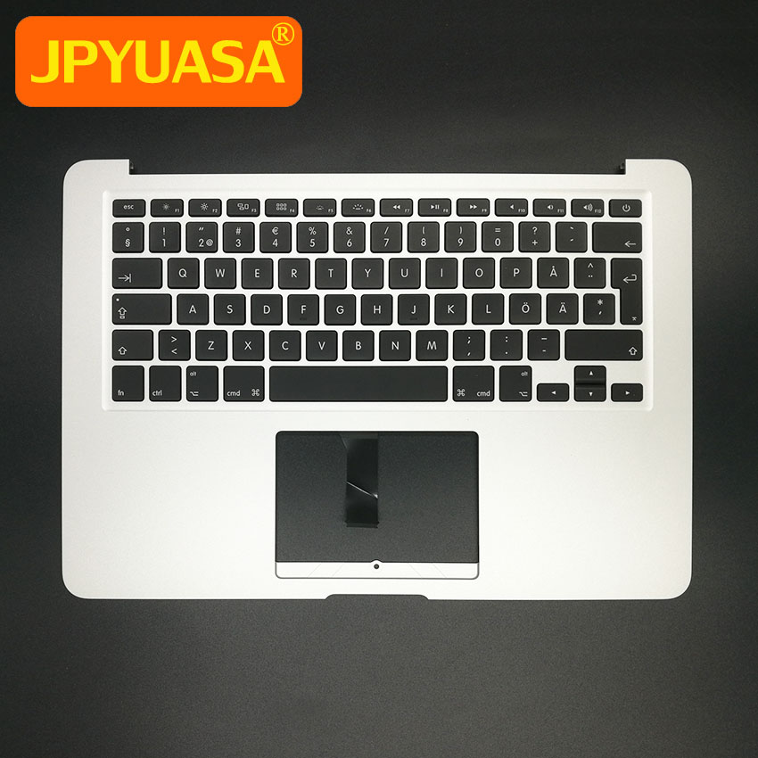 New Top Case Topcase with SE Swedish Sweden keyboard+Backlight For MacBook Air 13.3