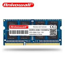 Ноутбук Ankowall с оперативной памятью DDR3 2 ГБ 4 ГБ 8 ГБ 1600/1333 МГц SO-DIMM DDR 3 память ноутбука 204pin 1,35 V-1,5 V пожизненная Гарантия