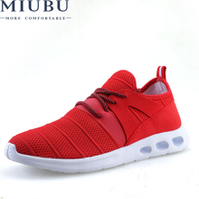 MIUBU New fashion Style Men Casual Shoes Lace Up Breathable Comfortable Sapatos Masculino sneakers 39-44