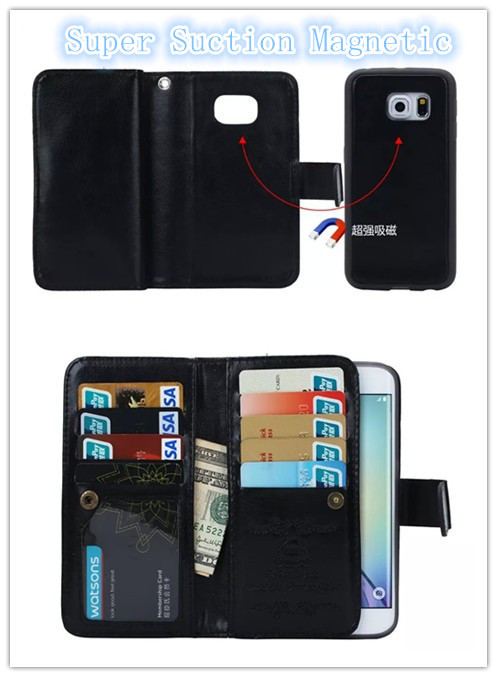 size 40 a0278 bb6a7 US $8.44 35% OFF|For Samsung Galaxy S6 Edge Plus Phone Case Luxury Leather  Wallet Flip 9 Card Holders Cell Phone Cases For Samsung S6 Edge Plus-in ...