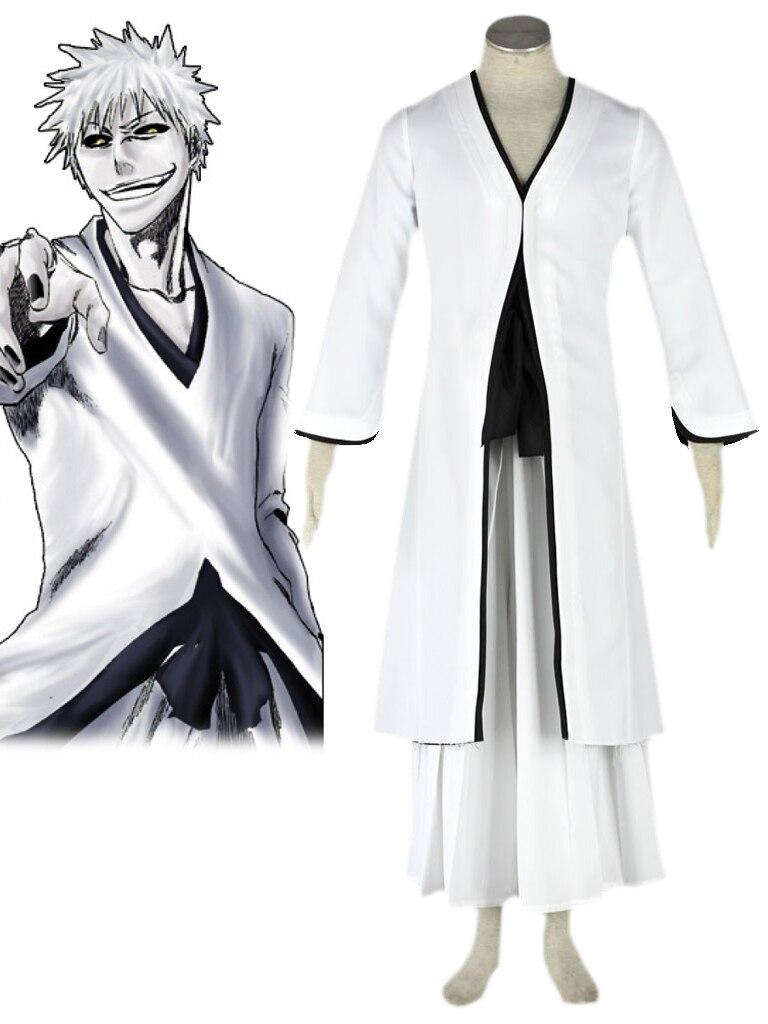 ✅Envío libre blanco Bleach Ichigo Kurosaki bankai kimono uniforme ...
