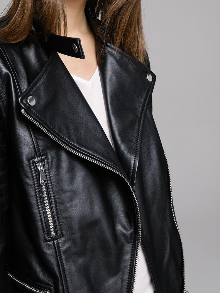 1516e3ca503 ANDREWMARC 2017 Women Sheepskin Genuine Leather Jacket Cost Slim ...