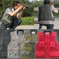2016 Summer Men's Photographer Vest Multi-Pockets Good quality Vests Shooting Waistcoat Vest Walking Travel Vest M-3XL