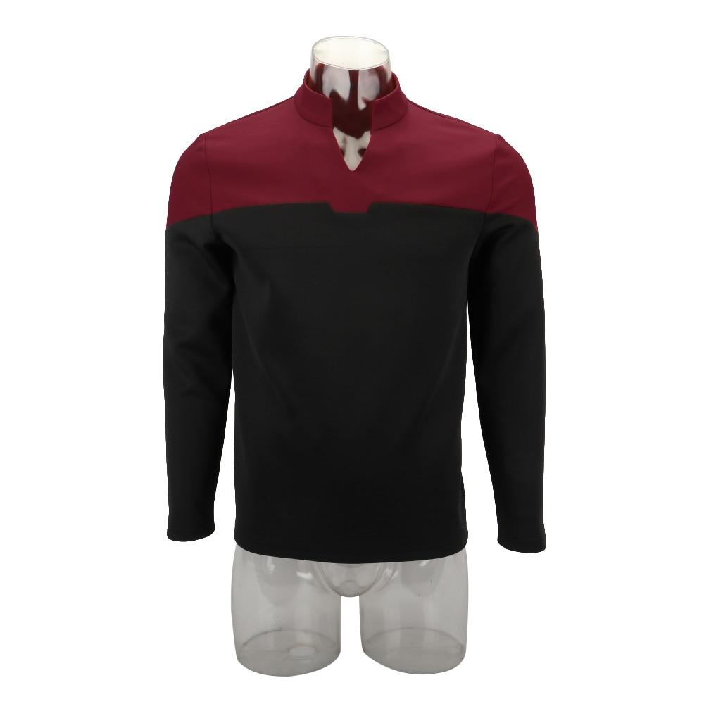 Cosplay 2019 Star Picard Startfleet Uniform New Engineering Red Top Shirts ST Costume Halloween Party Prop