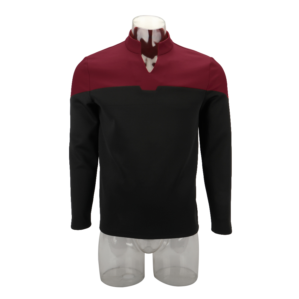 Cosplay 2019 Star Picard Startfleet Uniform Trek New Engineering Red Top Shirts ST Costume Halloween Party Prop image