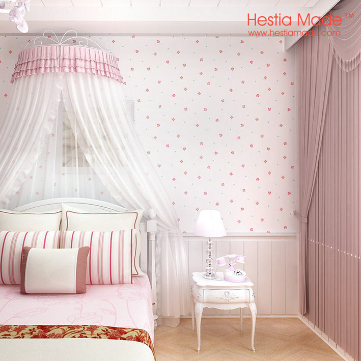 Pure Paper Wallpaper Pink Sweet Flowers Korean Style Wallpaper For Girl  Bedroom Decoration ...