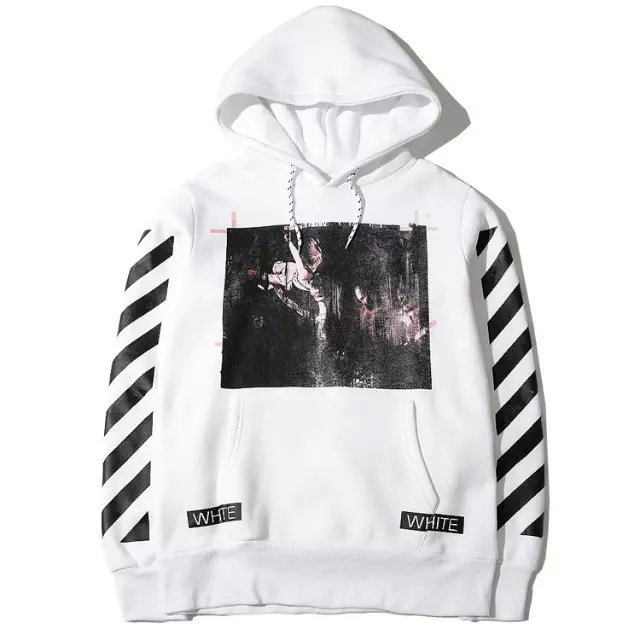 d7e6e3f2c2e5be High quality 2015 S S street brand OFF WHITE hoodies Religious 3D Skull  stripes Pullover men fashion cotton hooded sweatshirt