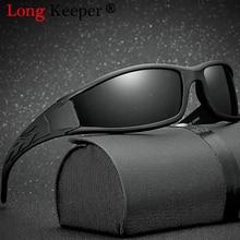 Длинные Хранитель Для мужчин s поляризованных солнцезащитных очков Для мужчин вождения зеркала покрытия точки черный рама очки солнцезащитные очки UV400 Gafas De Sol