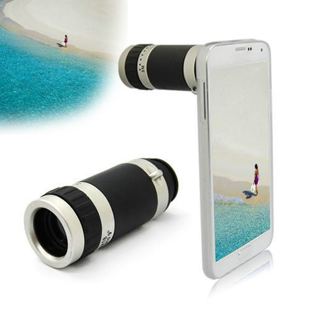 buy online 825cf 28af1 US $42.34 |2015 new 8X Zoom phone Camera cell phone telephoto lens + Cover  Case For Samsung Galaxy S5-in Mobile Phone Lenses from Cellphones & ...