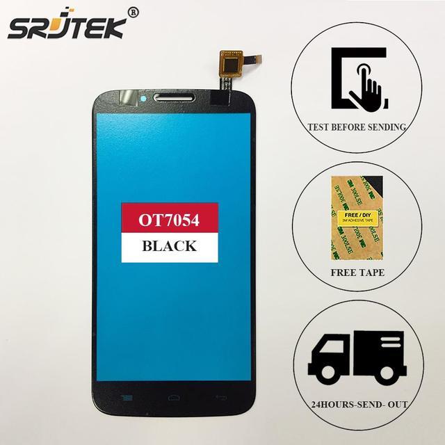 "5.5"" For Alcatel one touch Flash Plus 7054T OT7054T ot7054 7054 Touch Screen Digitizer Sensor Front Glass Black"