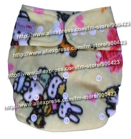 Акция настоящие Подгузники одежда в стиле унисекс подгузники оптом-моющиеся детские подгузники Подгузники 9 шт подгузники+ 9 шт вставки для 4-17 кг - Цвет: hello kitty