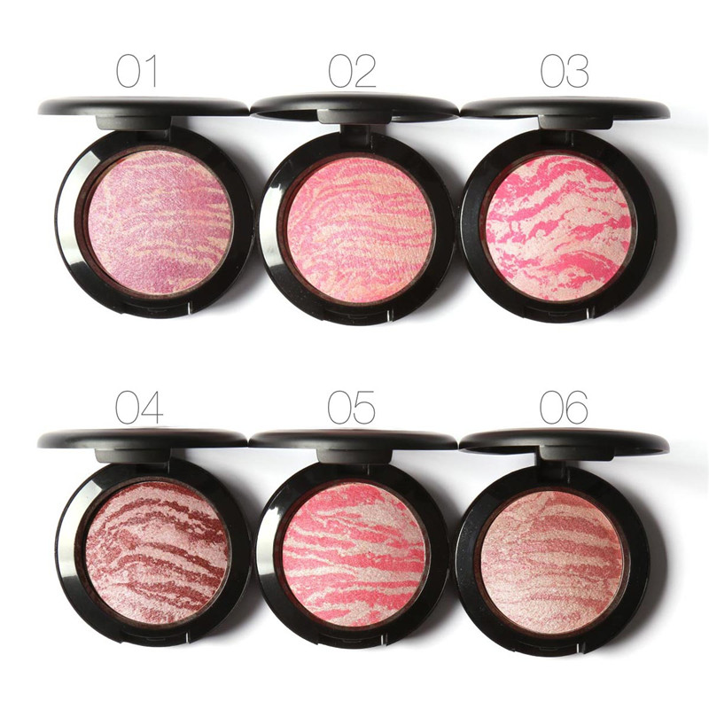 Professional Brand Face Makeup Blusher Natural Pigments Minerals Shimmer Baked Nude Bronzer Blush Focallure Brand Makeup