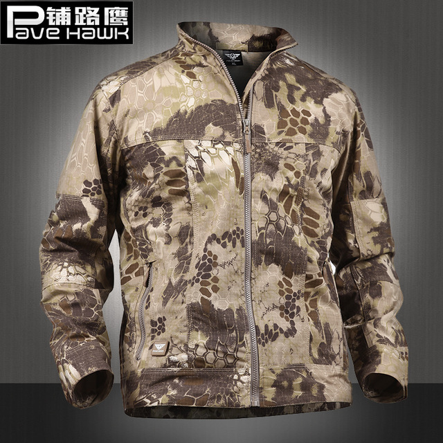 6b8b7404789c PAVE HAWK Army Military Jacket Gear Waterproof Outdoors Hiking Men  Camouflage Tactical Jacket Spring Thin Windbreaker