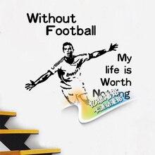 Free shiping DIY vinyl Football star wall stickers Cristiano ronaldo The sitting room the bedroom setting wall stickers