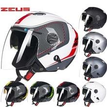 2016 Новый Тайвань ZEUS двойной объектив Пол-лица мотоциклетный шлем ABS мотоцикл электрический велосипед шлемы солнцезащитный крем Сезона 202FB