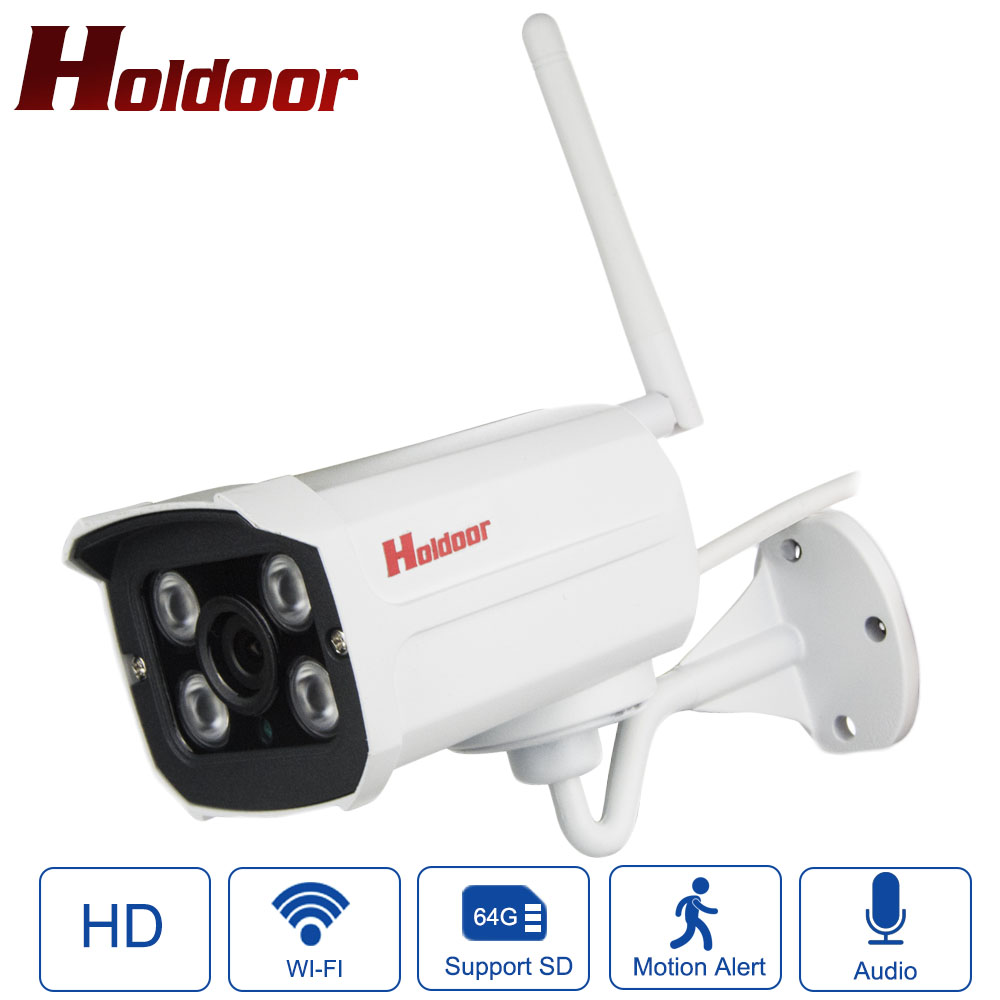 Holdoor IP Camera WiFi Video Surveillance Cameras Outdoor HD Wireless System with Audio Recording Flash Drive Support Micro SD