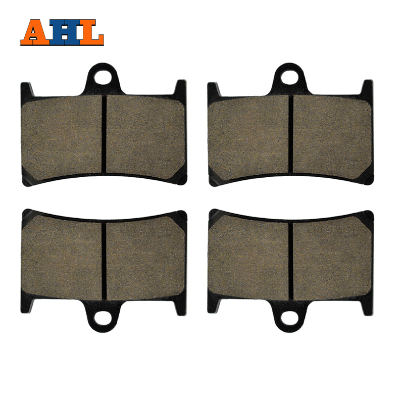 AHL 2 Pairs Motorcycle Brake Pads For YAMAHA FZS1000 FZ1 2001-2005 Black Brake Disc Pad ahl 8 pairs 16pcs intake