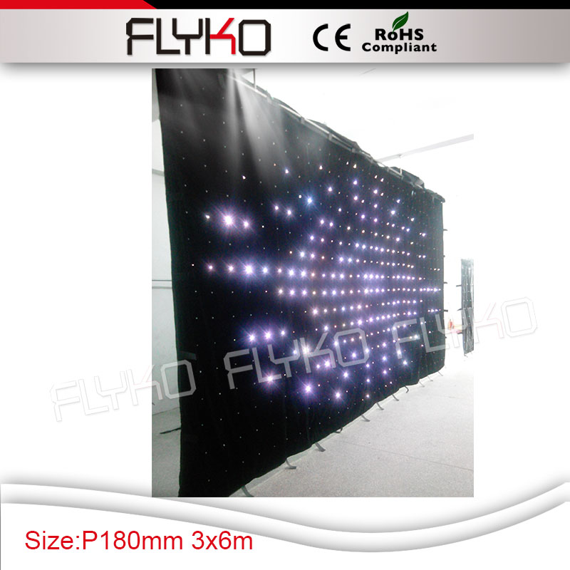 dj facade 3x6m P18cm led light flexible led curtain display screen for event stagedj facade 3x6m P18cm led light flexible led curtain display screen for event stage