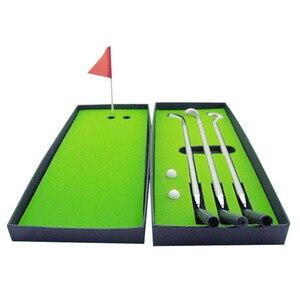 Image 3 - 新ミニゴルフクラブパターボールペンゴルファーギフトボックスセットデスクトップの装飾学用品ゴルフアクセサリー