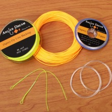 WF2/3/4/5/6/7/8F Fly Fishing Line Combo Weight Forward Floating Green 20/30LB Backing Tippet Tapered Leader Loop