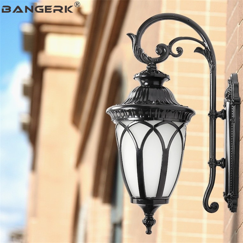 Retro Europe Outdoor Wall Lamp Waterproof LED Porch Lights Glass Aluminum Lighting Sconce Wall lamps Garden Balcony Fixtures