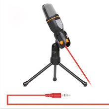Universal de 3.5mm Jack de Audio Estéreo Con Cable de Micrófono de Condensador MIC Con El Mini Trípode Para Chatear Cantar Karaoke PC Portátil de Escritorio